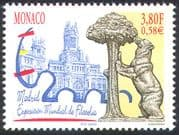 Monaco 2000 ESPANA/ Bear/ Cathedral/ StampEx/ Buildings/ Animals/ Statues 1v (n41486)