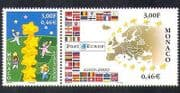 Monaco 2000 Europa  /  Building Europe  /  Stars  /  National Flags  /  Map 2v set pr (n38451)
