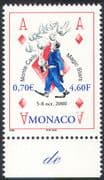 Monaco 2000 Magic Stars/ Hands/ Playing Cards/ Festival /Animation 1v (n38302)
