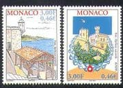 Monaco 2001 Europa  /  Water Resources  /  Buildings  /  Architecture 2v set (n38446)