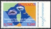 Monaco 2001 Whales/ Dolphins/ Nature/ Marine/ Wildlife/ Environment/ Conservation 1v (n18817)