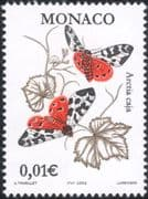 Monaco 2002 Garden Tiger Moth/ Moths/ Butterflies/ Insects/ Nature/ Environment 1v (mc1067)