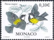 Monaco 2002 Great Tit/ Tits/ Birds/ Nature/ Wildlife/ Conservation 1v (mc1069)