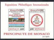 Monaco 2002 Stamp Exhibition  /  StampEx  /  Poster  /  Buildings impf m  /  s (n38185)
