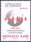 Monaco 2014 Children's Day/ Rights of the Child/UN/ Welfare/ Education/ Globe/ Animation 1v (mc1062)