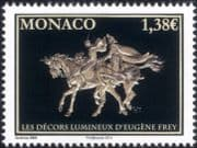 Monaco 2014 Eugene Frey/ Art/ Artists/ Painters/ Paintings/ Opera/ Horses 1v (mc1059)