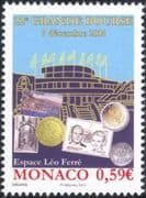 "Monaco 2014 ""Grande Bourse""/ Coins/ Stamps/ Postcards/ Exhibition/ Buildings/ Stamp-on-Stamp/ S-on-S  1v (mc1061)"