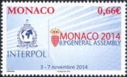 Monaco 2014 Interpol Conference/ 83rd General Assembly/ Police/ Law/ Order/ Policing/ Emblem 1v (mc1064)