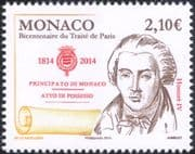 Monaco 2014 Treaty of Paris Bicentenary/ Honore IV/ Royalty/ People 1v (mc1063)