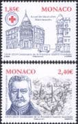Monaco 2014 World War One/ Prince Louis II/ Hotel/ Soldiers /WW1/ Ambulance/ Transport/ Buildings/ Architecture/ Red Cross/ Royalty 2v set (mc1036)
