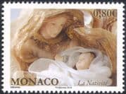 Monaco 2016 Christmas/ Greetings/ Nativity/ Crib Figures/ Madonna/ Baby/ Virgin/ Child/ Baby 1v (mc1076)