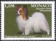 Monaco 2016 Papillon/ Continental Toy Spaniel/ Dogs/ Dog Show/ Pets/ Nature/ Animals 1v (mc1041)