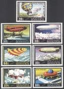 Mongolia 1977 Air Balloons  /  Zeppelin  /  Airships 7v n11580