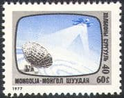 Mongolia 1977 Communications/ Satellite/ Telecomms/ Radio Dish/ Space/ TV 1v (n12131)