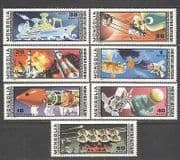 Mongolia 1977 Space  /  Moon  /  Eclipse  /  Ship 7v set (n12295)