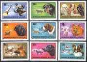 Mongolia 1978 SPACE  /  Dogs  /  Laika 9v set ref:n11613
