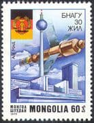 Mongolia 1979 Space/ Satellite/ Communications/ Buildings/ Flags/ Politics 1v n12125