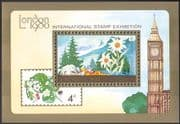 Mongolia 1980 London StampEx/ Flowers/Plants/ Nature/ Buildings 1v m/s (n17534)