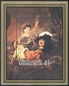 Mongolia 1981 Rembrandt/ Art/ Paintings/ Artists/ People/ Heritage 1v m/s (n17537)