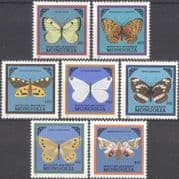 Mongolia 1986 Butterflies/ Moths/ Insects/ Nature/ Conservation 7v set (n12172)
