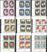 Mongolia 1991 Butterflies/ Moths/ Insects/ Flowers/ Plants/ Nature/ GardenExpo 9v set control blks (n42245)