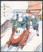 Mongolia 1992 Winter Olympics/ Sports/ Olympic Games/ Bob Sleigh/ Bobsleigh/ Bobsled 1v m/s (n34227)