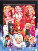 Mongolia 1995 Marilyn Monroe/ Actress/ Films/ Cinema/ Actors/ People 1v m/s (s3124)