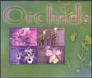Mongolia 2003 Orchids/ Flowers/ Flowers/ Orchid/ Nature 4v m/s (n41510a)
