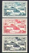 Morocco 1958 EXPO  /  Exhibition  /  Buildings  /  Architecture  /  Flags  /  Commerce 3v (n37340)