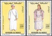 Morocco 1991 Costumes/ Clothes / Design/ Weaving/ Textiles/ People 2v set (n32961a)