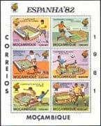 Mozambique 1981 World Cup/ Football/ Soccer/ WC/ Games/ Sports/ Stadiums/ Stadia/ Buildings/ Architecture 6v sht n41560