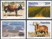 Namibia 1990 Cattle/ Sheep/ Maize/ Farming/ Crops/ Animals/ Nature 4v set (n20150)