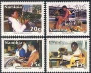 Namibia 1992 Disabled Workers/ Health/ Welfare/ Wheelchair/ Industry/ Business/ Commerce 4v set (n16652)