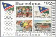 Namibia 1992 Olympic Games/ Olympics/ Sports/ Athletics/ Helicopter/ Aviation/ Transport 4v m/s (b7655)