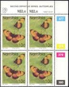 Namibia 1993 10c BUTTERFLIES/ Insects/ Nature control blk c/b (n16704)