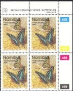 Namibia 1993 (1994 issue) BUTTERFLIES / Insects/ Nature NVI control blk c/b (n16692)