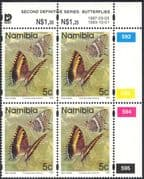 Namibia 1993 (1997 reprint) 5c BUTTERFLIES/ Insects/ Nature control c/b (n16693)