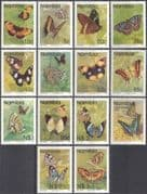 Namibia 1993 BUTTERFLIES/ Insects/ Nature  (incl. NVI, non value indictor) 14v set (n16701)