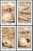 Namibia 1995 Fossils/ Tortoise/ Crocodiles/ Birds/ Reptiles/ Animals/ Nature/ Wildlife 4v set (b1381)