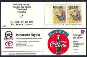 Namibia 1996 Coca Cola  /  Butterflies  /  Insects  bklt n14694