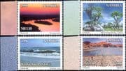 Namibia 1998 Environment Day/ Trees/ Sunset/ Beach/ Nature Reserve 4v set (n16607)
