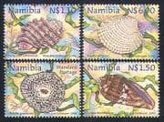 Namibia 1998 Shells  /  Marine  /  Nature 4v set ref:s2637