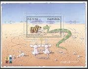 Namibia 1999 iBRA  /  Toy Zebra  /  Snake  /  Rats  /  Animation  /  Cartoons 1v m  /  s (n16642)