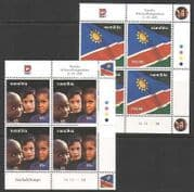 Namibia 2000 10th Independence  /  Flag  /  Child 2v ctl n20148