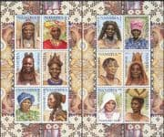 Namibia 2002 Headdresses/ Hairstyles/ Hair/ Costumes CORRECT PRINT 2 x 6v sht (n16599)