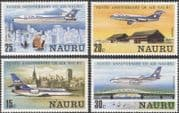 "Nauru 1980 ""Air Nauru"" 10th Anniversary/ Aircraft/ Planes/ Aviation/ Transport 4v set (n17874)"