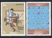 Nepal 1974 Football  /  Soccer  /  Baghchal  /  Sports  /  Board Games  /  Leisure 2v set (n38837)