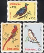 Nepal 1979 Monal Pheasant/ Shrike/ Sunbird/ Nature/ Birds/ Wildlife/ Conservation 3v set (b2685)