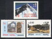 Nepal 1983 Tourism  /  Mountains  /  Buildings  /  Architecture  /  Religion  /  Heritage 3v n39527