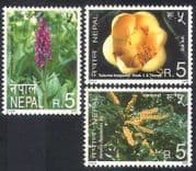 Nepal 2000 Flowers  /  Orchids  /  Magnolia  /  Plants  /  Nature  /  Conservation 3v set (n38816)